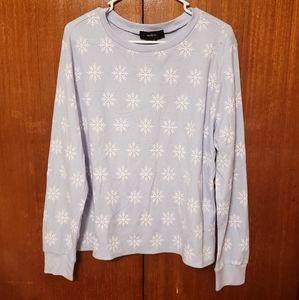 Forever 21 Snowflake Thermal Shirt